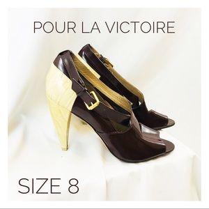 pour la victoire Womens 8 Brown Heels Brazil Tan